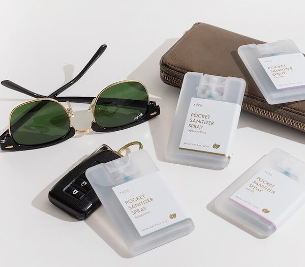 Yuzu Soap now offers pocket-sized hand sanitizers.