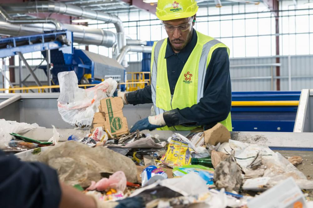 Workers must hand-sort (and discard) unacceptable waste that was incorrectly recycled.