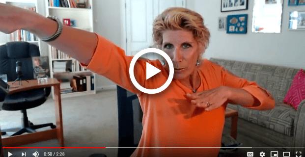 Bonnie Low-Kramen striking a Ninja pose