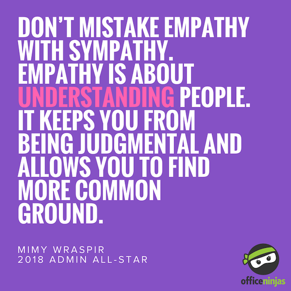Don't mistake empathy with sympathy.