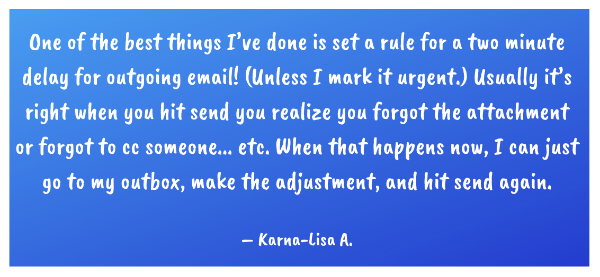 A great email tip from Ninja Karna-Lisa A!